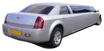 Chauffeur driven silver Chrysler 300 stretched limousine - School Proms, Birthdays, Anniversaries in Sheffield and beyond.
